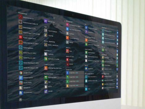 Beeldscherm met Windows Apps