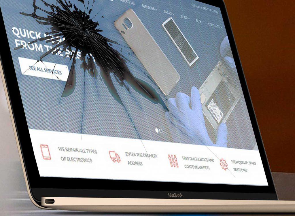 Een kaptop laptop scherm.