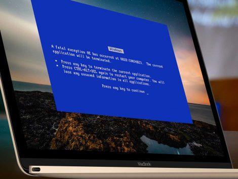 Melding van een computervirus.